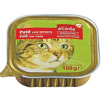 Aliada Paté con ternera para gatos Tarrina 100 g