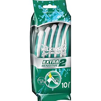 WILKINSON Extra 2 Maquinilla de afeitar desechable Sensitive Bolsa 10 unidades