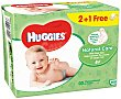 Toallitas infantiles con aloe vera y vitamina E natural care Paquete 168 uds Huggies