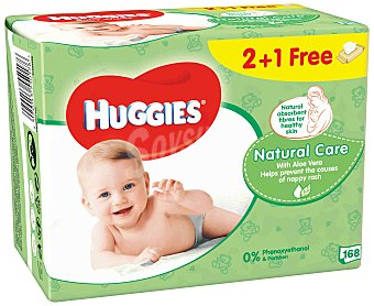 Huggies Toallitas Infantiles Huggies® Natural Care 168 unidades