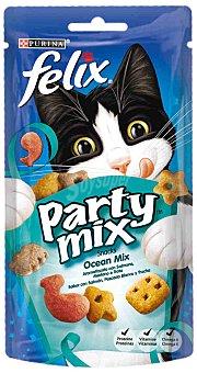 Purina Snack para gatos con sabor a salmón, pescado blanco y trucha  paquete 60 g