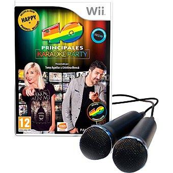 40 Principales Wii : Karaoke Party + 2 Micrófonos para Wii 1 Unidad