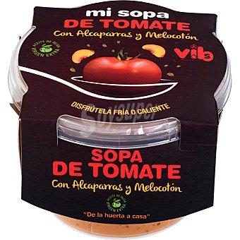 Vibs Sopa de tomte con alcaparras y melocotón de la huerta a casa tarrina 250 g tarrina 250 g