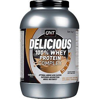 QNT Delicious 100% Whey Protein sabor caramelo Envase 1 kg