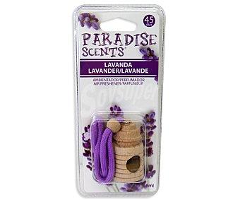 PARADISE SCENTS Ambientador de coche con perfumador de madera para colgar con olor a lavanda 1 unidad