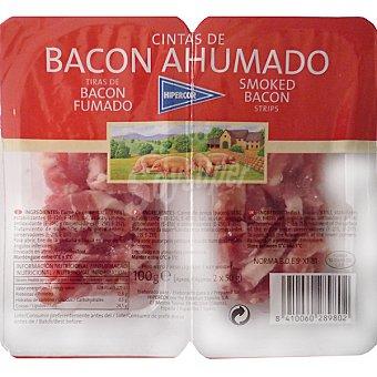 Hipercor Cintas de bacon ahumado pack 2 envase 50 g Pack 2 envase 50 g