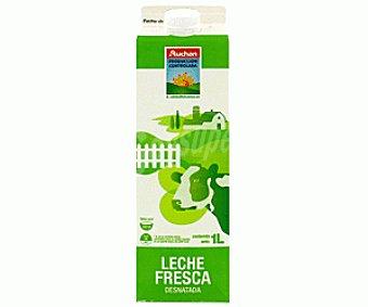 Auchan Producción Controlada Leche Fresca Desnatada 1L