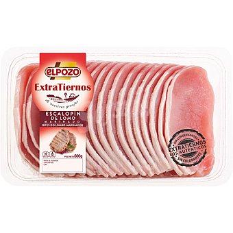 ElPozo Escalopín de lomo fresco tierno de cerdo blanco en filetes Bandeja 600 g