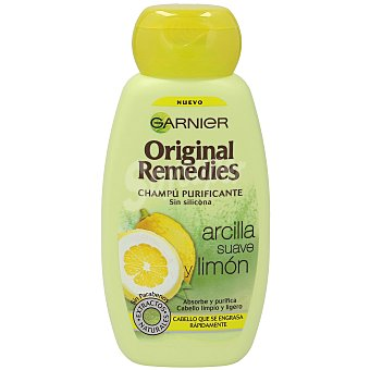 ORIGINAL REMEDIES Champú arcilla suave y limón Frasco de 250 ml