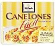 Pasta canelones , pasta alimenticia laminada precocida y desecada Paquete 12 uds El Pavo Gallina Blanca