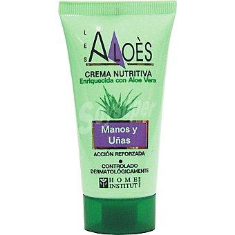 LES ALOES Crema de manos y uñas nutritiva enriquecida con Aloe Vera Tubo 50 ml