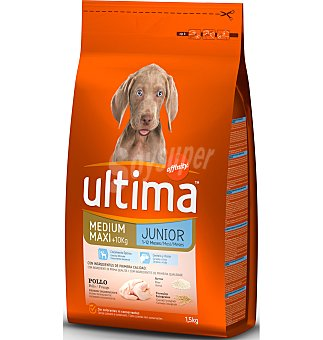 Ultima Affinity Alimento rico en pollo y arroz para perros Junior Bolsa de 1,5 kg