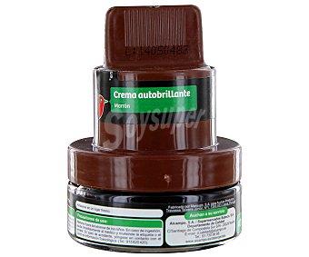 AUCHAN Crema autobrillante para zapatos de color marrón 40 mililitros