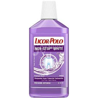 Licor del Polo Enjuague bucal Non-Stop White blanqueador suave Licor del Polo 500 ml