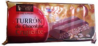 Hacendado Turron chocolate crujiente *navidad* Pastilla 300 g