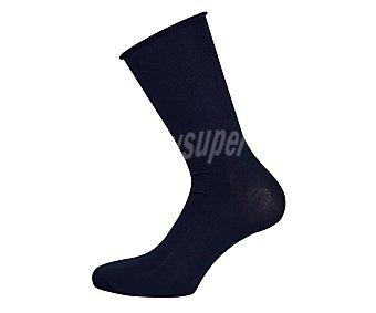 Calcetín microfibra para hombre color azul marino, talla única