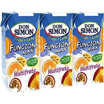 Don Simón Multifrutas fruta + leche FUNCIONA MAX Pack 3 envase 33 cl
