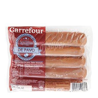 Carrefour Salchichas cocidas y ahumadas de pavo 200 g