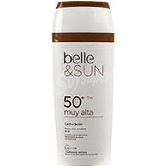 Eroski Loción solar sensitive F50 belle&sun Bote 250 ml