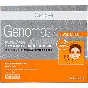Genomask mascarilla facial con vitamina C y ácido hialurónico caja  6 unidades