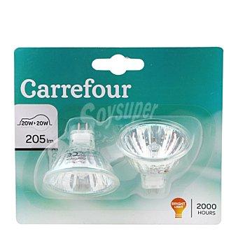 Carrefour Bombilla halógena dicroica dicroica 20W 2 ud