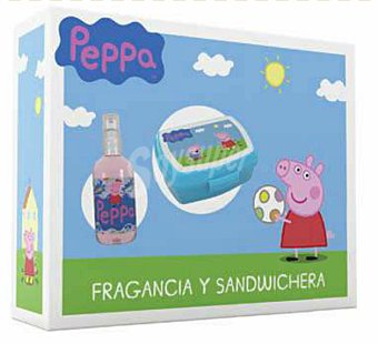 Peppa pig LOTE INFANTIL EAU TOILETTE 150 ml + SANDWICHERA u