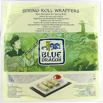 Blue Dragón Masa rollitos de primavera Wrappers 134 g