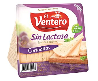 El Ventero Queso tierno cortaditas sin gluten ni lactosa Envase 250 g