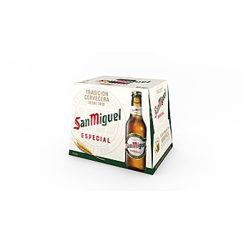 San Miguel Cerveza rubia especial Pack 12 botellines x 25 cl