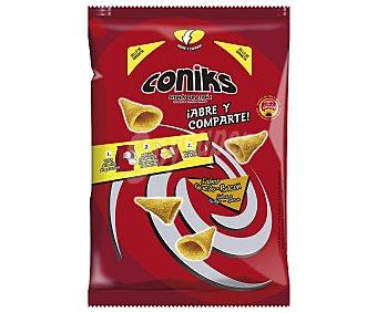 Puntazos Snacks de maíz, abre y comparte, saber queso y bacon coniks 125 gr