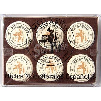 Romero Mellarius mieles monoflorales españolas eucalipto, brezo, tomillo, , espliego y azahar 240 G 6 x 40 g