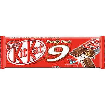 Kit Kat Nestlé Family pack 9 unidades envase 20,7 g Pack 9 unidades
