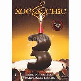Xoc & Chic Vela de chocolate Nº 3 1 unid