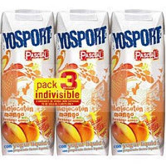 Pascual Yosport de melocotón-mango Pack 3x200 ml