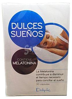 DELIPLUS Cápsulas dulces sueños con melatonina  Caja de 30 uds