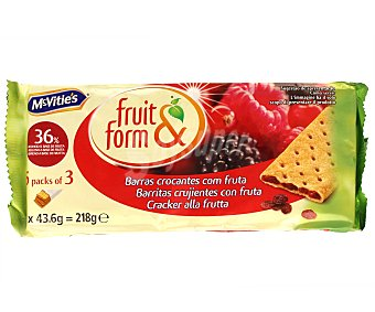Fruit&form Barritas Frutas del Bosque 195 Gramos