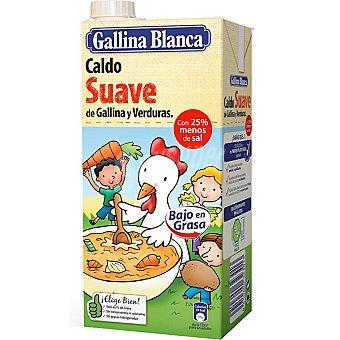 Gallina Blanca Caldo suave de gallina y verduras Brick de 1 L