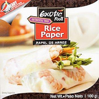 Exotic Food Papel de arroz Paquete 100 g
