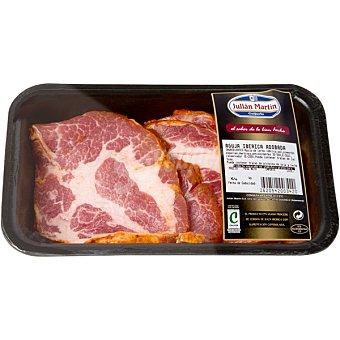 JULIAN MARTIN Aguja adobada de cerdo ibérico en filetes peso aproximado Bandeja 700 g