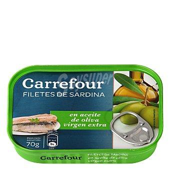 Carrefour Filetes de sardina en aceite de oliva 70 g