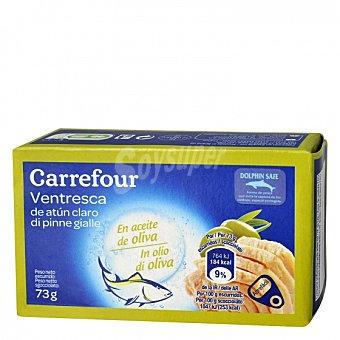 Carrefour Ventresca de atún claro en aceite de oliva 73 G 73 g