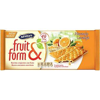 McVities Galletas rellenas de naranja Fruit & Form 195 g