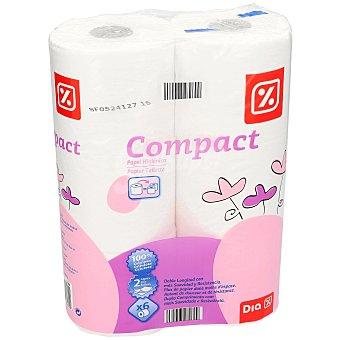 DIA Papel higiénico compacto blanco Paquete 6 ud