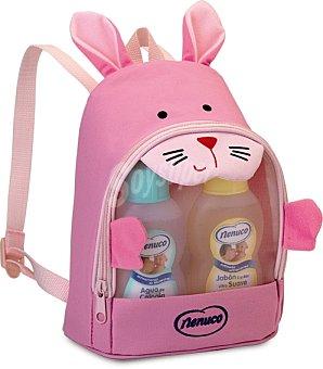 Nenuco Lote bebe colonia + locion + jabon liquido + champu mochila rosa 1u