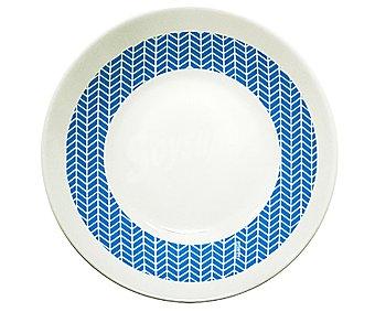 ARC Plato hondo de color blanco y azul de 20 centímetros, ARC.