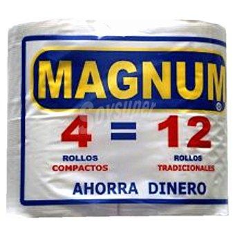 MAGNUM papel higiénico super compacto paquete 4 rollos paquete 4 rollos