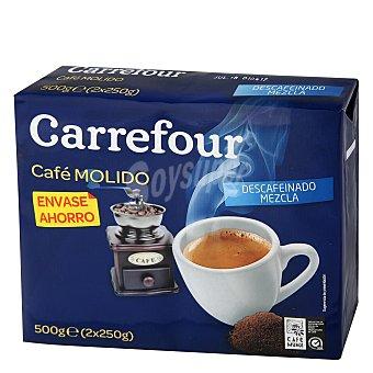 Carrefour Cafe molido mezla descafeinado Pack de 2x250 g
