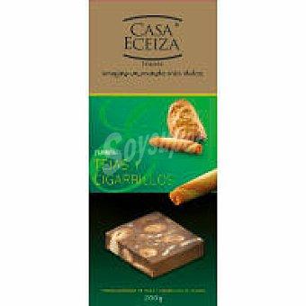 Casa Eceiza Turrón de tejas-cigarrillos Caja 200 g