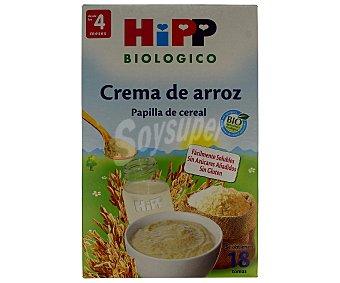 HiPP Biológico Crema de arroz ecológica sin gluten desde los 4 meses Envase 400 g
