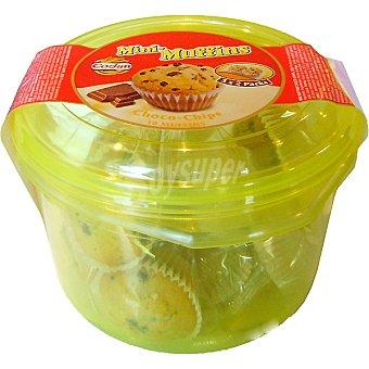 Codan Mini muffins con chips de chocolate pack 5x2 unidades envase 250 g Pack 5x2 unidades